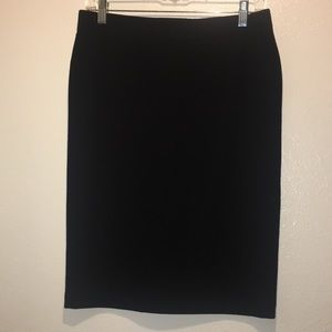 Vince Black Ponte Knit Knee length Skirt